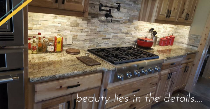Beautiful granite counter top in a kitchen