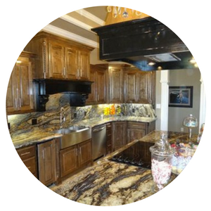 tan granite kitchen countertop
